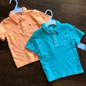 Carters boy short sleeve polo shirts  Sz 24 mos